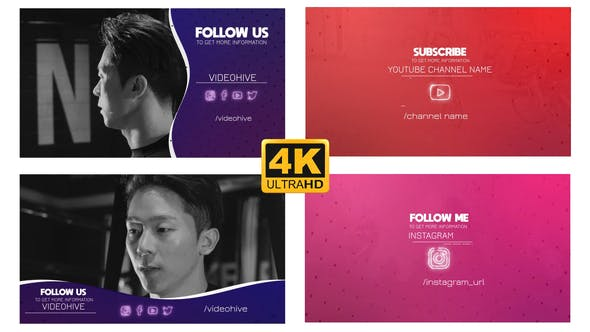 Videohive Social Outro - Follow Pack 24994926