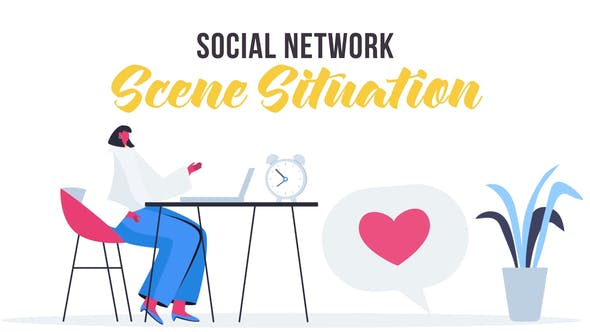 Videohive Social network - Scene Situation 27642837