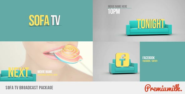 Videohive Sofa TV Broadcast Package 6106658