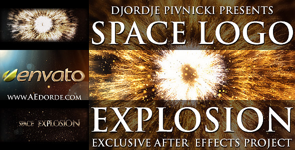 Videohive Space Logo Explosion 1517310