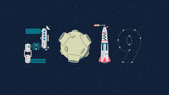 Videohive Space New Year 21018178