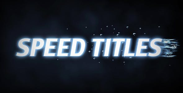 Videohive Speed Titles 9825738