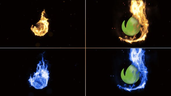 Videohive Sphere Fire Logo Reveal 9239367