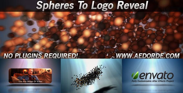 Videohive Spheres To Logo Reveal 842862