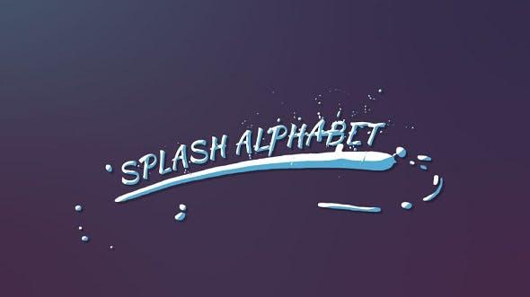Videohive Splash Alphabet 19352835