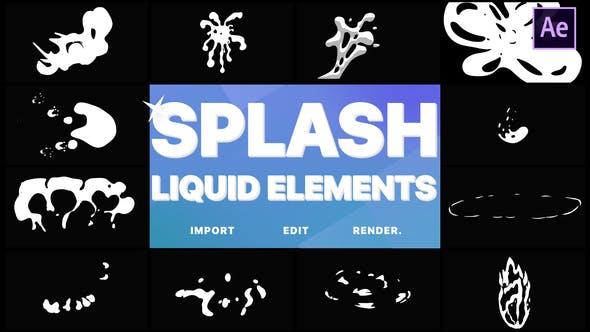 Videohive Splash Elements 21751940