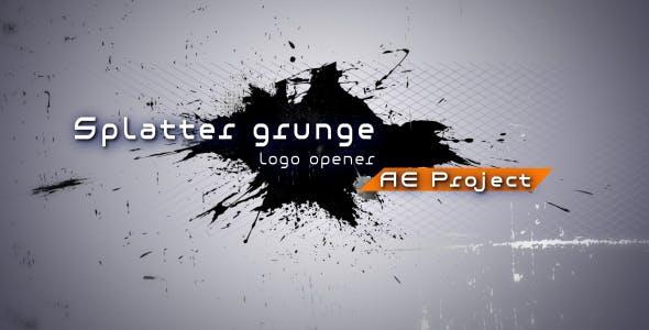 Videohive Splatter grunge - Logo opener AE project 130221