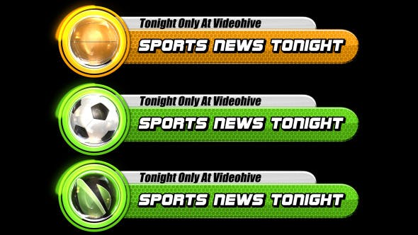 Videohive Sports Broadcast Lower Third Pack 5252546