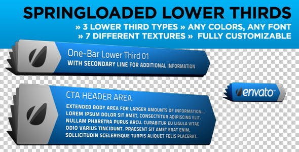 Videohive Springloaded Lower Thirds 1563850