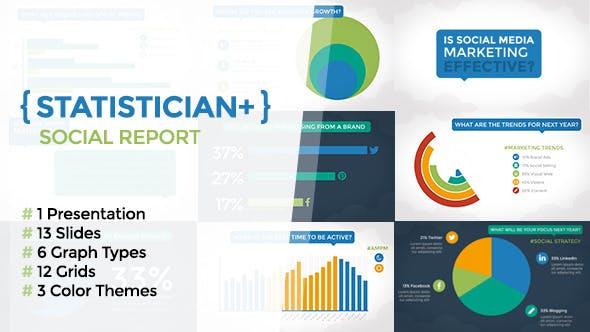 Videohive Statistician Plus - Social Report 9527991