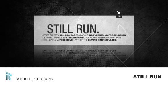 Videohive Still Run