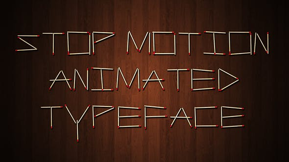 Videohive Stop Motion Typeface 15801290