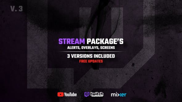 Videohive Stream Packages - Alerts Overlays Screens 25429330