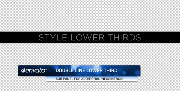 Videohive Style Lower Thirds 231560
