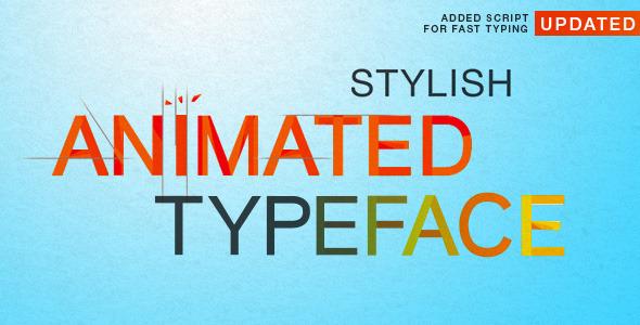 Videohive Stylish Animated Typeface 6145345