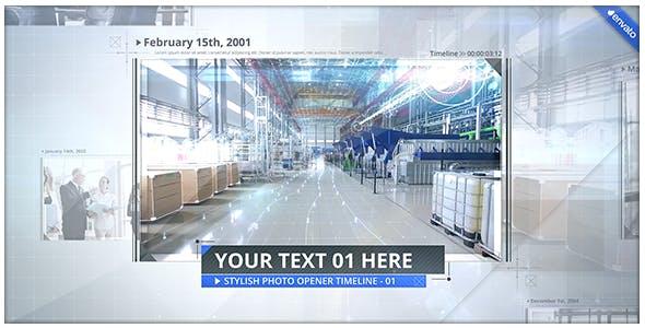 Videohive Stylish Photo Opener - Timeline Slideshow 18240344