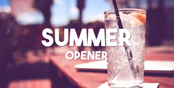 Videohive Summer Typography Slides 20006869