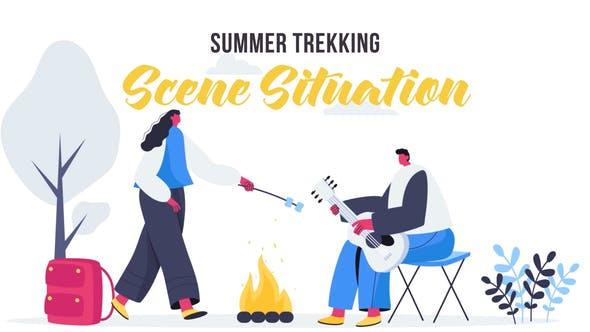 Videohive Summer trekking - Scene Situation 27642905