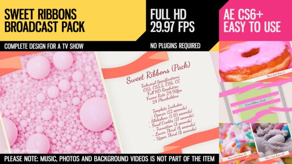 Videohive Sweet Ribbons (Pack) 7797639