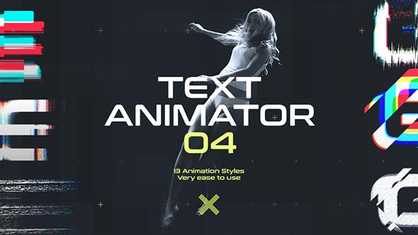 Videohive Text Animator 04 Motion Glitch Titles 19573411