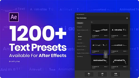 Videohive Text Animator - One Click Text Presets 24165802