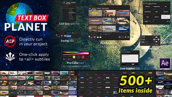 Videohive Text Box Planet v1.0 26020399