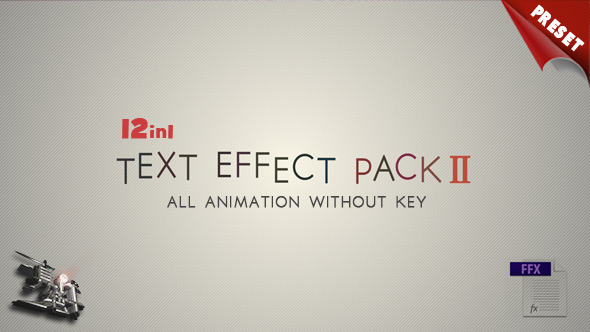 Videohive Text FX Pack II