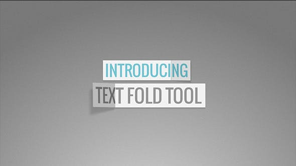 Videohive Text Fold Tool 9721125