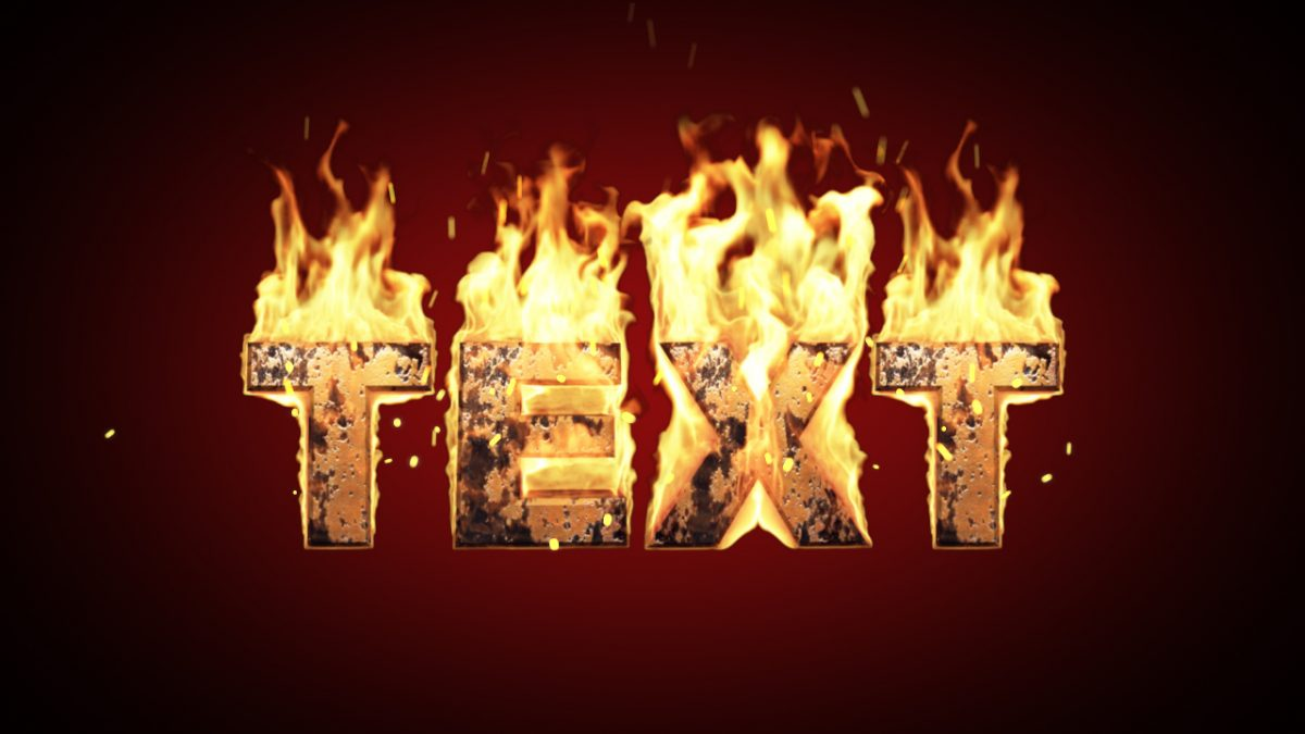 Videohive Text on Real Fire 82521