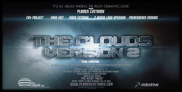 Videohive The Clouds 2 (Two Bonus Logo Reveals).159284