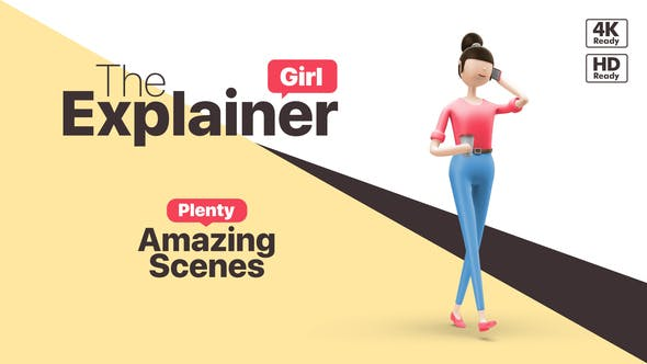 Videohive The Explainer Girl 25324949