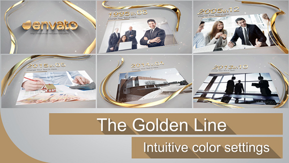 Videohive The Golden Line 14613365