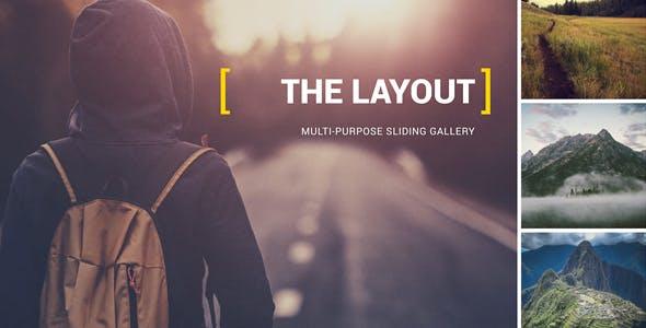 Videohive The Layout - Multi-Purpose Sliding Gallery 2.5k 13440142