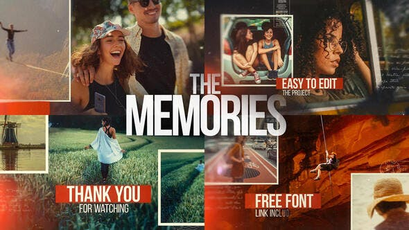 Videohive The Memories - Cinematic Slideshow 26477737