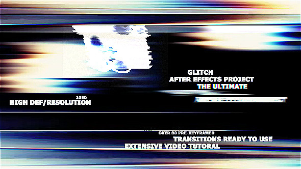 Videohive The Ultimate Glitch + 70 Presets Pack