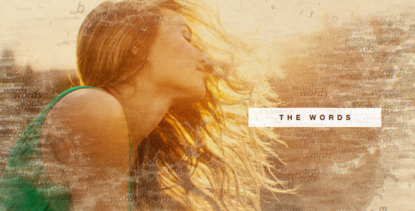 Videohive The Words Slideshow 10855159