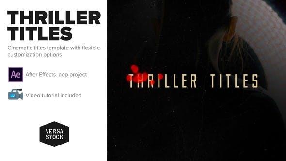 Videohive Thriller Titles 22595716