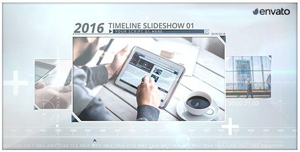 Videohive Timeline Image Slideshow 18833104