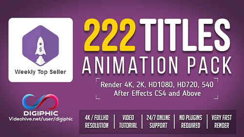 Videohive Titles Animation 19495140