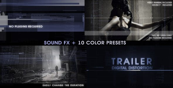 Videohive Trailer Digital Distortion 4916198