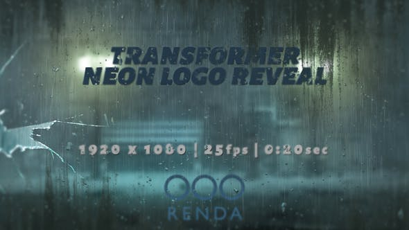 Videohive Transformer Neon Logo Reveal 22672156