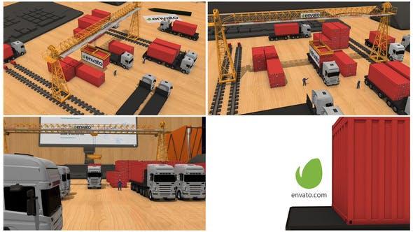 Videohive Transport company Intro 26944500