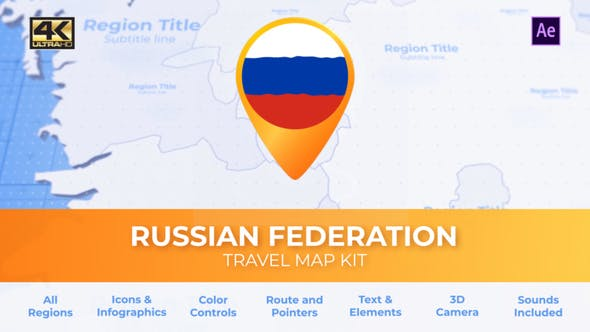 Videohive Travel Map Russia - Russian Federation Map 26922771