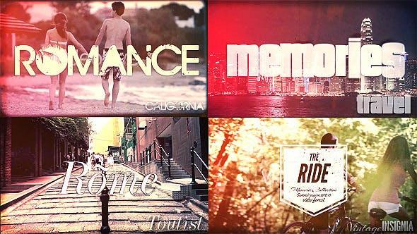 Videohive Travel Memories Typography Slideshow 5085980