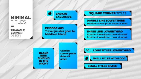 Videohive Triangle Corner Titles 22388423