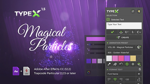 Videohive TypeX - Text Animation Tool - Magical Particles Pack - Handwritten Calligraphy Titles