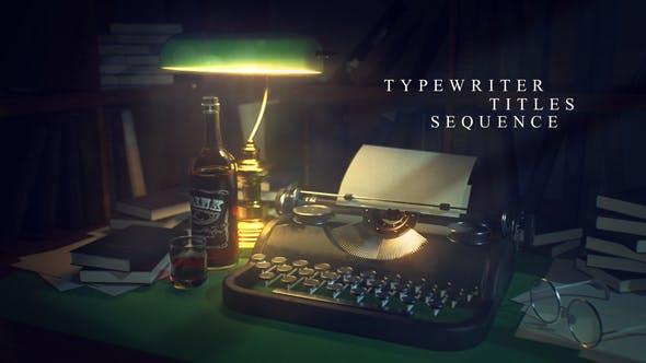 Videohive Typewriter Titles Sequence 27000513