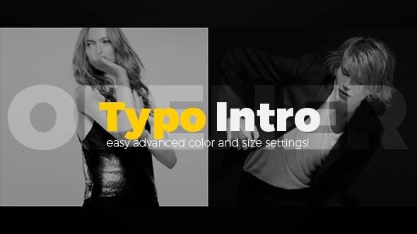 Videohive Typo Intro Opener 20402698