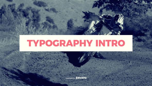Videohive Typography Intro 19625714