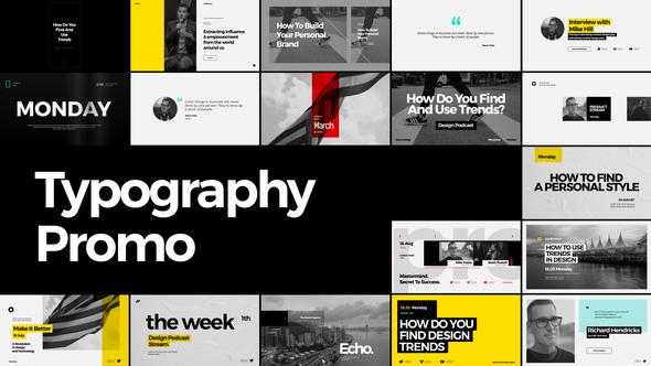 Videohive Typography Promo v1.0 22114107